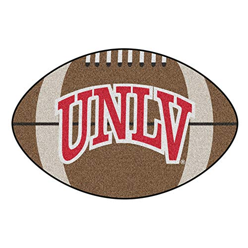 NCAA University of Nevada, Las Vegas (UNLV) Rebels Football Shaped Mat Area Rug ()