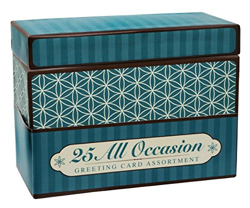 (Paper Magic Handmade and Embellished All Occasion Greeting Cards with Blue Keepsake Box, 25pc)