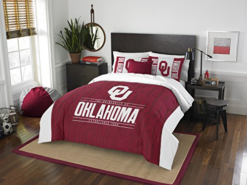 The Northwest Company Officially Licensed NCAA Oklahoma Sooners Modern Take Full/Queen Comforter and 2 Sham Set (Oklahoma Comforter Full Sooners)