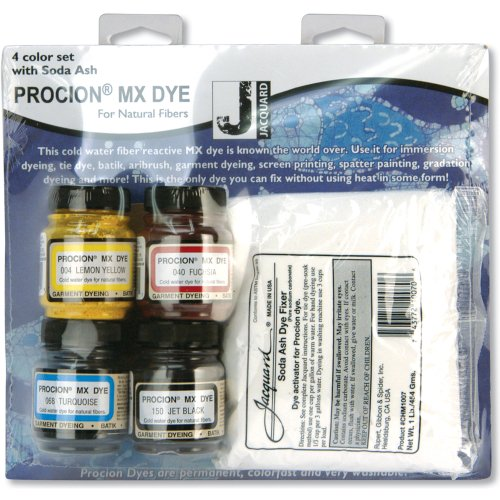Jacquard Products Procion Four Color MX Dye Set with Soda Ash (PMX100S)