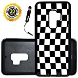 Custom Galaxy S9 Plus Case (Checkered Flag Finish Line) Edge-to-Edge Rubber Black Cover Ultra Slim   Lightweight   Includes Stylus Pen by Innosub
