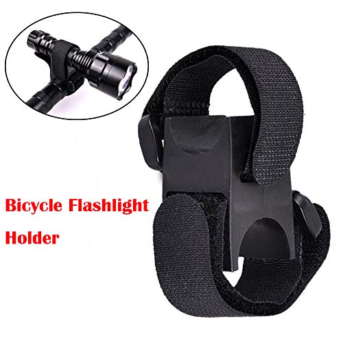 LtrottedJ Universal Bicycle Flashlight Torch Handle Bar Holder Mount Clamp ()