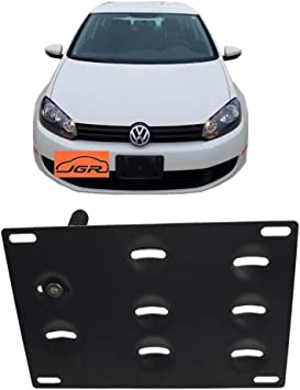 Black Brushed Aluminum Front License Plate Relocate Mounting Bracket Universal C