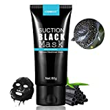 Black Mask for Pores Blackhead Peel Off Mask, Blackhead Remover Mask, Purifying Peel-off Mask Oxygen Beauty Mask Black Mud Pore Removal Strip Mask For Face Nose Acne Treatment Oil Control 1Bottle