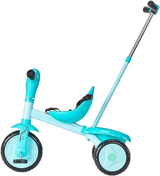NBgy Triciclo para Niños, Bicicleta Azul Celeste, Cochecito ...