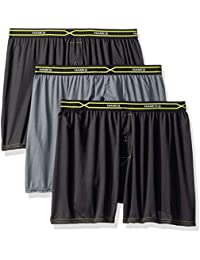 Men's 3-Pack X-Temp Performance Cool Checker Polyester Boxers