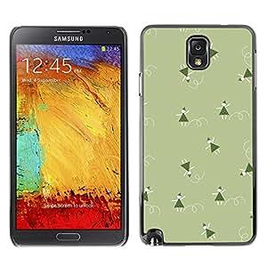 TopCaseStore / la caja del caucho duro de la cubierta de protección de la piel - Christmas Green Winter Holiday - Samsung Galaxy Note 3 N9000 N9002 N9005
