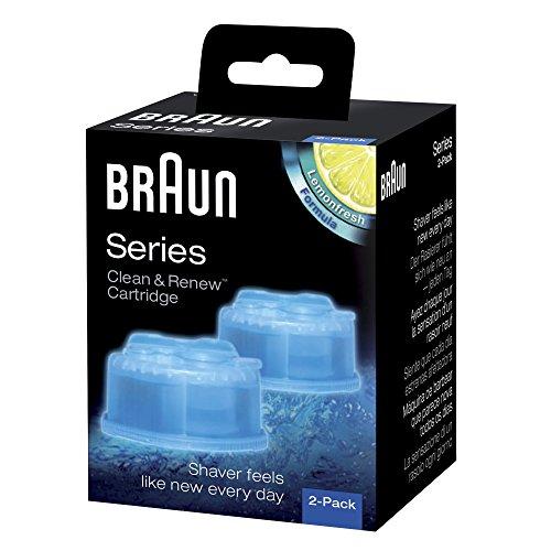 Braun CleanundCharge Reinigungskartuschen (2x Nachfüllkartuschen für die Reinigungsstation und für Braun Series 3-9 Elektrorasierer)