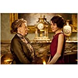 Downton Abbey Maggie Smith as Violet Crawley, Dowager Countess of Grantham Talking to Michelle Dockery 8 x 10 Inch Photo