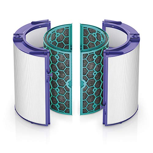 Dyson Replacement (HP04/TP04/DP04) Sealed Two Stage 360° Filter System, Purple/Teal Air Purifier Spare Filter