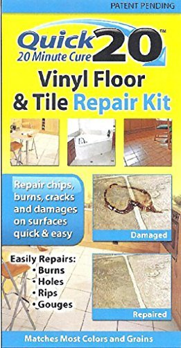Quick 20 Vinyl Floor and Tile Repair Kit: Repairs chips, cracks, burns, and damages on vinyl and linoleum surfaces. by Invisible