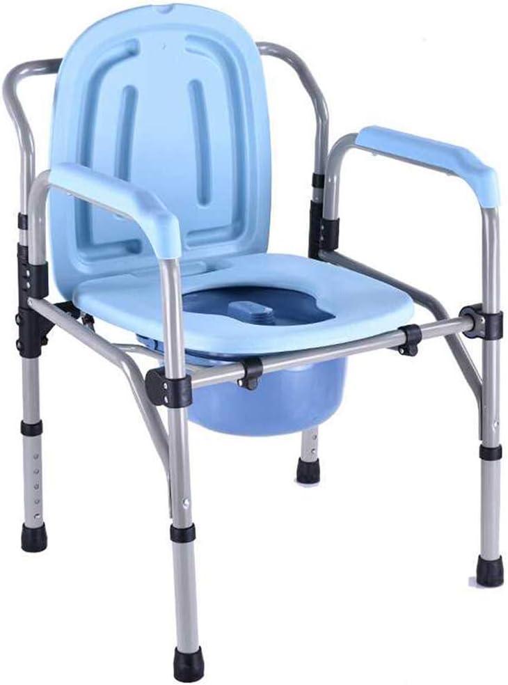 TKLLOVE Silla con Inodoro para Ancianos Persona de Edad Avanzada/Mujer Embarazada/Persona con discapacidad Silla para IR al baño Altura Ajustable Capacidad de Carga máxima 330 LB
