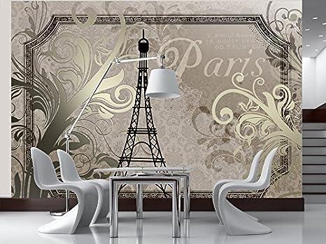 murando Papier peint intiss/é 300x210 cm D/écoration Murale XXL Poster Tableaux Muraux Tapisserie Photo Trompe loeil Ville Paris 10110905-78