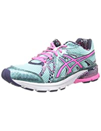 ASICS Womens Gel-Preleus Running Shoe,Ice Blue/Hot Pink/Navy,5 M US