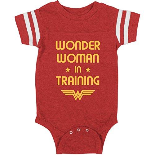 Wonder Woman in Training Spoof: Infant Rabbit Skins Football Bodysuit