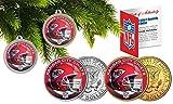 Licensed Kansas City Chiefs NFL Christmas Tree Ornament Colorized 24KT Gold JFK Half Dollar 2 Coin Set! W/H COA!