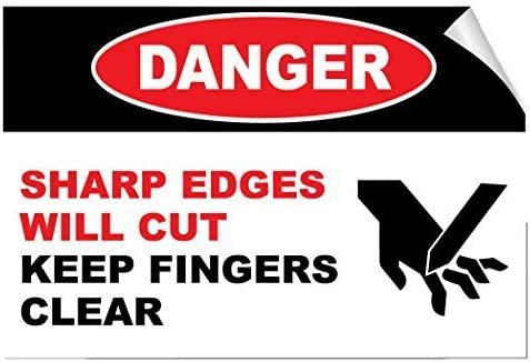 Hazard Warning Safety Sign Notice Self Adhesive Vinyl