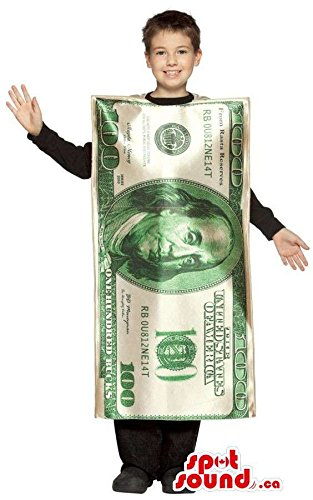 Real-Looking Large 100-Dollar Bill Children Size Costume