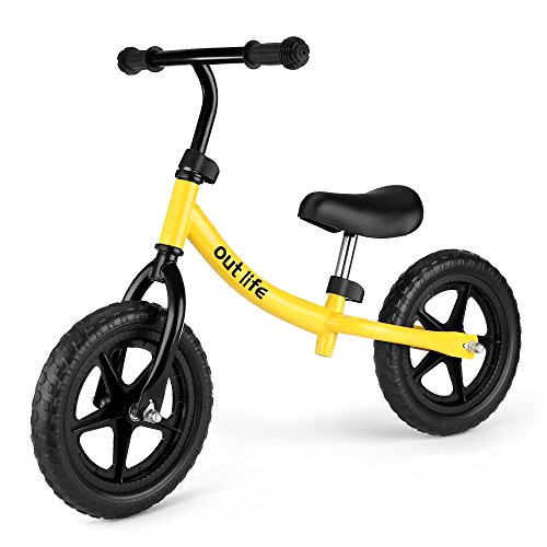 OUTLIFE Balance Bike Training Bike Sports No Pedal Bicycle with Adjustable Handlebar and Seat for Kids for Kids & Toddlers 18 Months to 6 Years