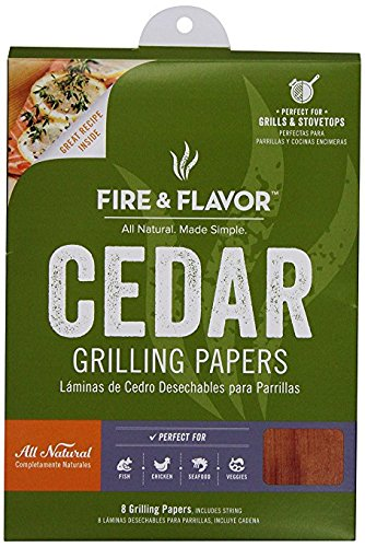 Banded Wood (Fire & Flavor Fire & Flavor 8.5 x 6.25 Inch Western Red Cedar Wraps (8 Papers), 2 Ounce Package)