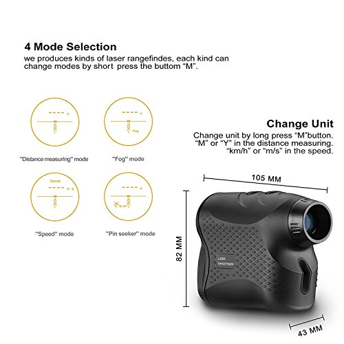 DEKO Golf Laser Rangefinder,Laser Range Finder with Slope, Fog,Scan,Precision Speed Measurement by DEKO (Image #2)