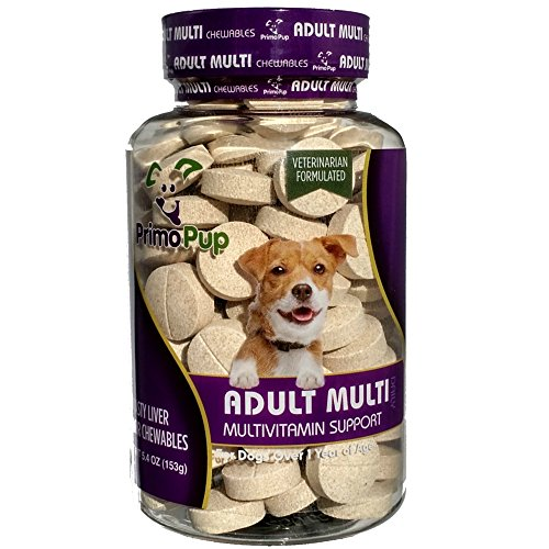 Adult Dog Multivitamin by Primo Pup Vet Health | Supports Physical & Mental Wellbeing | Vet Formulated | Easy to Digest | No Artificial Colors, Flavors, or Grains | Made in the USA | 60 Chewables Review