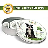 OXO PET PRODUCTS Tick and Flea Collar for Dogs. Natural Repellent with Essential Oils.8 Months Protection.Best Natural Pest Solution for Dogs and Ages. Waterproof, 25""