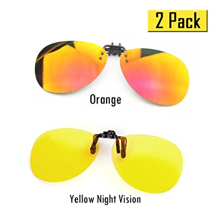 cd6779e0d14 Cyxus   2 Pack   Polarized Lenses Classic Clip-On Sunglasses ...