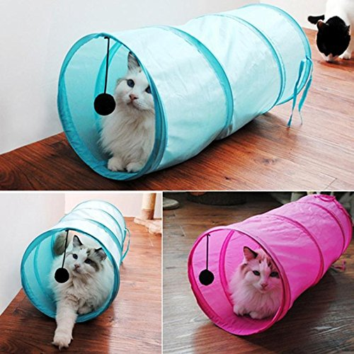 Pier 27 Collapsible Pet Tunnels and Rabbit Tubes for Small Medium Large Cats Kitten 50x20cm Foldable Cat Tunnel Toys
