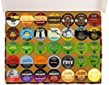 Crazy Cups Coffee And Tea Gift Sampler, Single-Cup Pack Sampler for Keurig K-Cup Brewers, 105-Count