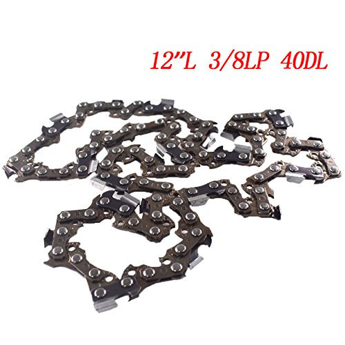 12' Chainsaw Chain - UAUS Portable Drive Link 12'' Chain Saw Mill Chain For Smooth Cutting Blade Outdoor Tools 3/8LP 45DL