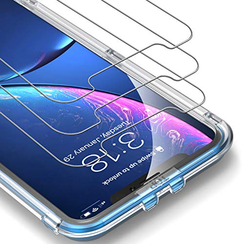 UNBREAKcable Screen Protector for iPhone XR / 11 6.1 [3-Pack] - 9H Hardness Tempered Glass for iPhone XR, Bubble-Free, Shatter-Proof, Free Installation Frame, Case-Friendly, 3D Touch Support