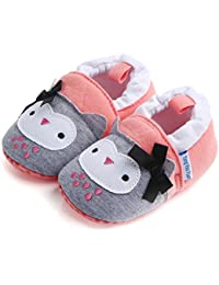 Save Beautiful Infant Unisex Baby Winter Warm Cotton Slippers Anti-Slip Soft Sole Cute Cartoon First Walkers Shoes