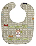 Caroline's Treasures Too Cute Baby Bib, Shiba