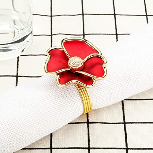 VNFEI 6PCS Napkin Ring Napkin Buckle Party Restaurant Hotel Banquet Serviette Holder Wedding Bouquet Dinner Table Decoration Accessories by VNFEI (Image #2)