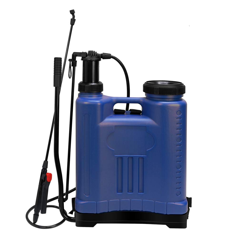 Flesser Backpack Sprayer Knapsack Manual Sprayer 4 Gallon,No Leak and Heavy Duty Suitable for Agricultural Gardening Use (4 Gallon, Blue) by Flesser