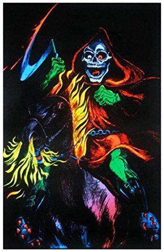 Death Rider Grim Reaper Blacklight Poster Print
