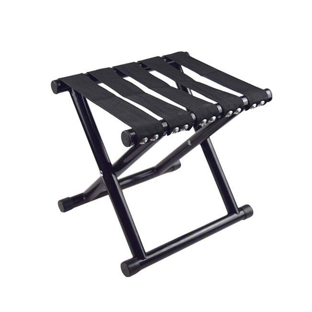 DWJ Folding Camping Stool, Portable Beach Outdoor Lounge Chair Fishing Chair, Load Bearing 180kg (Color : Black, Size : 232826cm) by DWJ