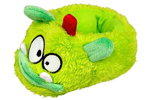gibra - Zapatillas de estar por casa de tela para niño verde neón
