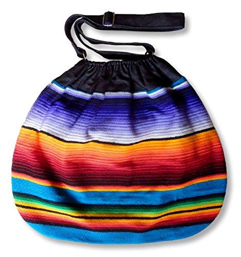 Handmade Bohemian Bag From Mexican Serape Blanket - Hippie Boho Purse Backpack (Cheap Mexican Ponchos)