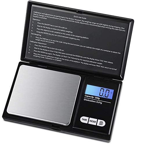 Digital Scale, Sobotoo Digital Pocket Scales Pro Scales with Back-Lit LCD...