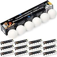 78 Tischtennisbälle TT-Bälle Bälle 40mm weiß ohne Aufdruck basteln gute Qualität