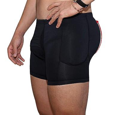 471746e0018 FashionLevel Mens Padded Underwear Butt Lifter Slim Shapewear Plus Size  Compression Trunk Boxer Hip Butt Pad