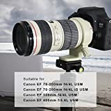 Acouto Tripod Mount Collar Ring Aluminum Alloy Canon 70-200mm f4/4L is USM Camera Lens