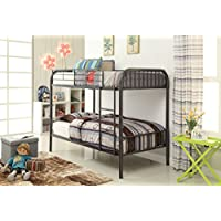 ACME Bristol Gunmetal Twin over Twin Bunk Bed