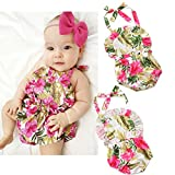 ZOOYAA Newborn Infant Baby Girls Romper Flower