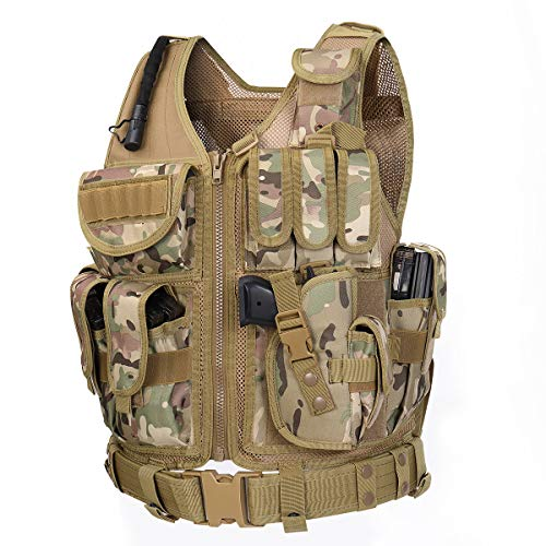 GZ XINXING S - 4XL 100% Full Refund Assurance Tactical Airsoft Paintball Vest (CP)