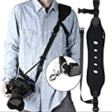 Camera Strap, Camera Shoulder Strap for Nikon, Neoprene Quick Release Safety Tether, Camera Sling DSLR Camera Canon Nikon Sony – Black For Sale