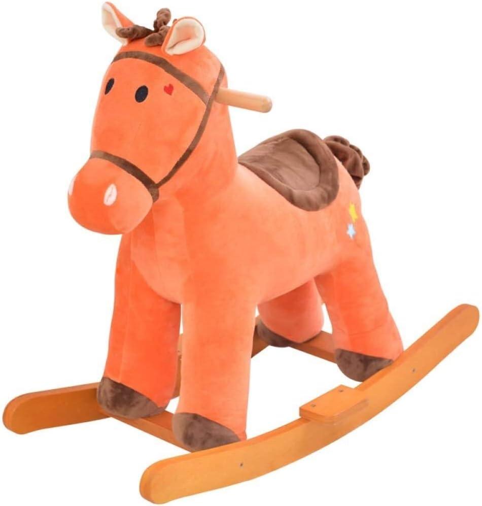 Caballito Balancín Rocker Ride-Ons silla bebé niño balanceo caballo peluche de madera for 1-6 años niños y niñas niño niño rocking caballo rocker animal rocker asiento juguete regalo de cumpleaños Mec