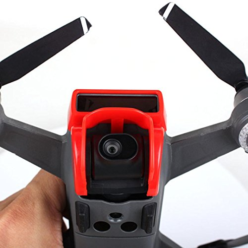 Cameras Sunshade - Leewa@ For DJI Spark Camera Lens Hood Sunshade Gimbal Cover Protector Glare Guard (Red)